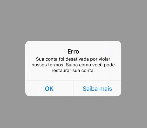 Instagram: Minha Conta Foi Desativa Por Violar Nossos Termos
