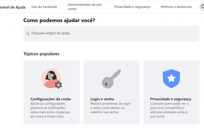 Central de ajuda do Facebook: como conseguir atendimento?